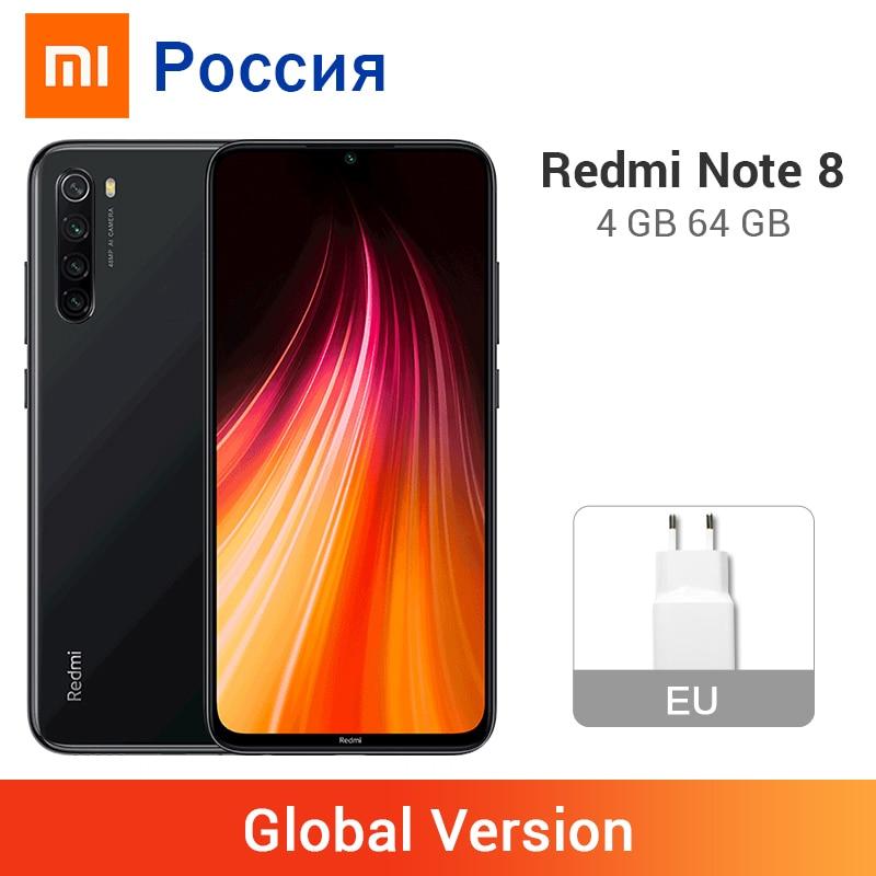 Глобальная версия Xiaomi Redmi Note 8 4 ГБ ОЗУ 64 Гб ПЗУ 48 МП камера мобильный телефон 4000 мАч Восьмиядерный Snapdragon 665 6,3 дюйма полный экран Смартфоны и мобильные телефоны      АлиЭкспресс
