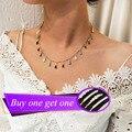 Juorest Multi Color Chains Necklace Fashion Cute Short Stone Adjustable Mini Choker Necklace Elegant Pendant Necklaces Jewelry