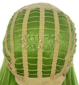 Code Geass C.c Cc Empress Wig Cosplay Costume 80cm Green Long Straight heat-resistant Fiber Hair Peruca Anime Wigs 5