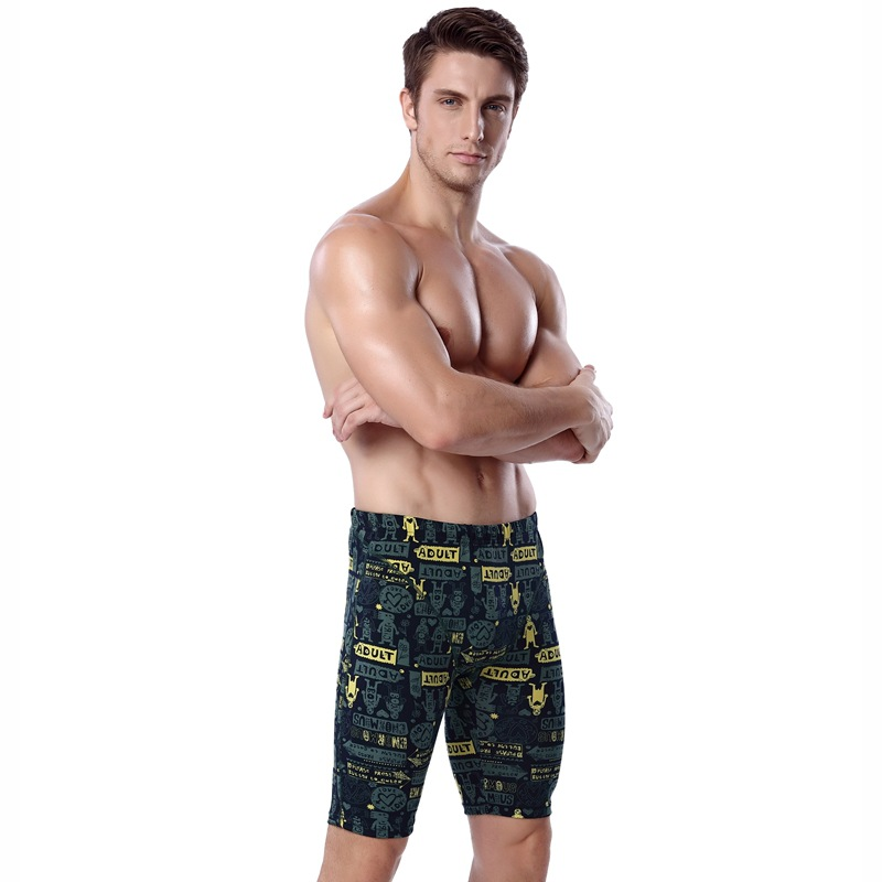 New Style Fashion Floral Swimming Trunks Plus-sized Menswear Ouma Triangular Boxer Short Swimming Trunks Swimsuit