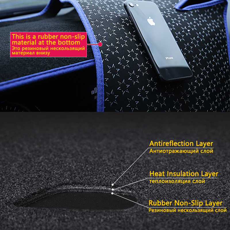 Dashboard Cover Beschermende Pad Voor Mitsubishi Lancer 2008 ~ 2016 Ralliart Evo X Galant Fortis Ex Accessoires Dash Board Zonnescherm