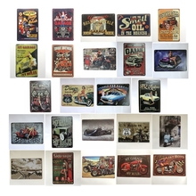[Luckyaboy] Quickies Hot Rod Garage Car Motorcycle US Route 66 Vintage Metal Retro Tin Sign Bar Cafe Home Pub Decor