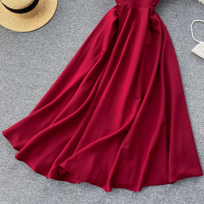 Elegant Vintage Sleeveless V-Neck Bandage Dress 24