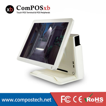 Cash register machine 15 inch resistitive touch screen POS system with MSR for coffee shop