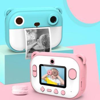 Kids Printing Regular Snapshot Camera Hand-eye Coordination Hand Flexibility 2.4 inch Multi-function Film with Shoulder Strap