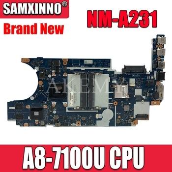SAMXINNO For Lenovo ThinkPad E445 NM-A231 Laotop Mainboard NM-A231 Motherboard with A8-7100U CPU HD 8570M GPU