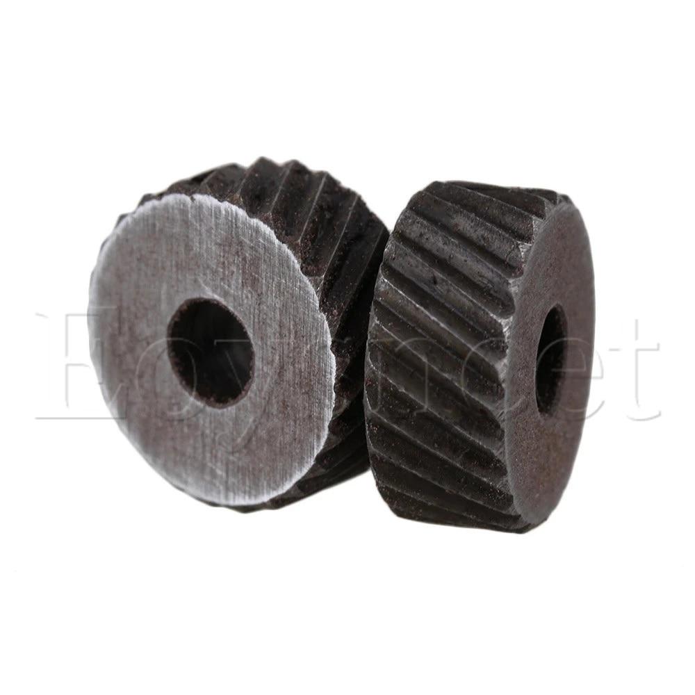 2x Silver Dia 2mm Anti Slip Diagonal Coarse Knurling Wheel for Metal Lathe
