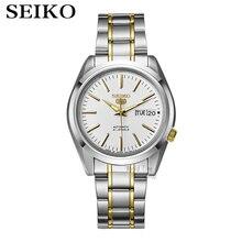Seiko-Reloj Automático para hombre, cronógrafo deportivo, resistente al agua, SNKL15