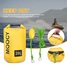 2-in-1 Portable Dock Line Tow Rope Accessories Dry Bag Kayak Rowing Sand Anchor
