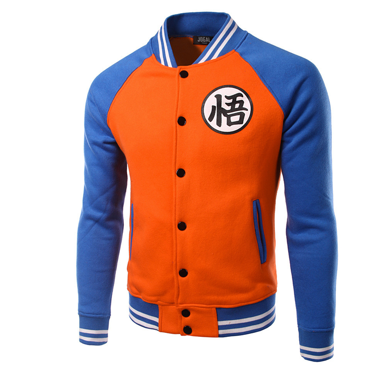 New Japanese Anime Dragon Ball Goku Varsity Jacket 2020 New Spring Casual Sweatshirt Hoodie Coat Jacket Brand Baseball Jacket