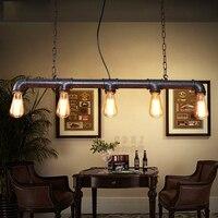 5 głowic steam punk retro lampa wisząca na poddaszu do kuchni bar cafe restauracja vintage żyrandole żelaza rustykalna wisząca oprawa oświetleniowa w Wiszące lampki od Lampy i oświetlenie na