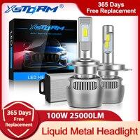 100W 25000LM de Metal líquido H7 Led Canbus H1 H4 bombilla de faro LED H8 H11 9005 HB3 9006 HB4 CSP luces del coche Turbo lámpara automóvil
