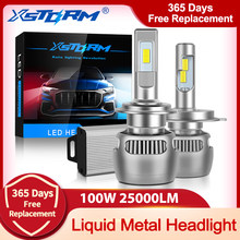 100W 25000LM Métal Liquide H7 Led Canbus H1 H4 PHARE LED Ampoule H8 H11 9005 HB3 9006 HB4 CSP Lumières DE VOITURE Turbo Lampe Automobile