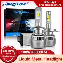 100W 25000LM Liquid Metal H7 Led Canbus H1 H4 LED Headlight Bulb H8 H11 9005 HB3 9006 HB4 CSP Car Lights Turbo Lamp Automobile