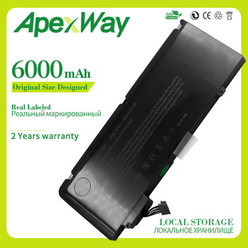 ApexWay 6000mAh 65.7Wh New Laptop Battery A1322 For Apple MacBook Pro 13  A1278 Mid 2009 2010 2011 2012 mb990ll / a 10.95V apexway a1322 6000mah laptop battery for apple macbook pro 13 a1278 mid 2009 2010 2011 2012 mb990ll a mb991ll a