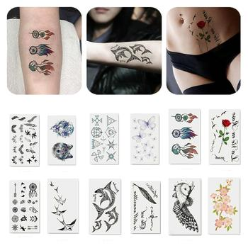 Cool Unisex Long Lasting Arm Body Temporary Tattoo Waterproof Transfer Sticker Temporary Tattoo Sticker Environmental Body Art image