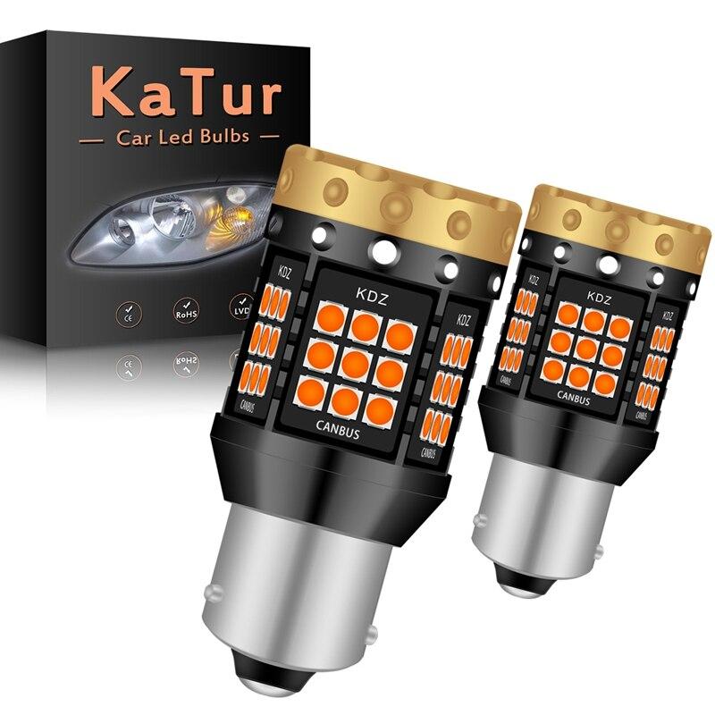 2 pezzi NO Hyper Flash 1156 BA15S P21W BAU15S PY21W T20 7440 lampadina a Led indicatori di direzione lampade ambra arancione Canbus Led senza errori