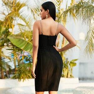 Image 5 - ADYCE 2020 חדש קיץ נשים תחרה Sleeceless מסלול Bodycon תחבושת שמלה סקסי ספגטי רצועת סלבריטאים ערב מסיבת מועדון שמלה