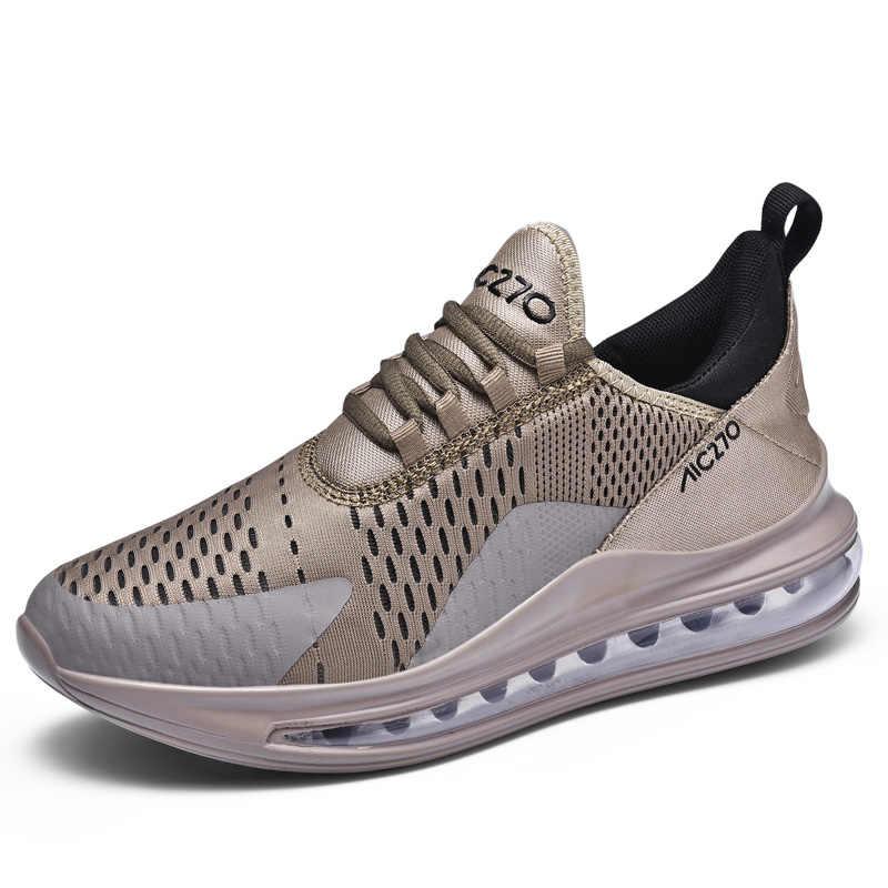 แฟชั่น Air Cushion รองเท้าผู้ชายผู้ชายสบาย Breathable รองเท้าผ้าใบ Flyknit น้ำหนักเบากีฬารองเท้า