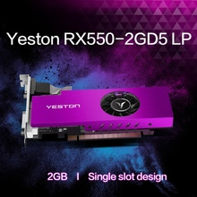 Yeston RX550-2G D5 LP 1183/6000MHz 2G/64Bit/GDDR5 VGA + HDMI + DVI-D pci-express 3.0x8 carte de jeu Ie