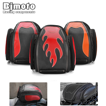 BJMOTO Universal Motorcycle Helmet Bag Tank Backpack Helmets Saddlebag Racing Back Seat Bags For Motocross Motorbike