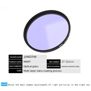 Image 2 - אופטי זכוכית 46/49/52/58/62/67/72/77/82mm ברור לילה מסנן מרובה שכבה ננו ציפוי זיהום הפחתה שמיים בלילה/כוכב