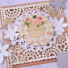 Eastshape Flower Square Frame Metal Cutting Dies Lace Background Stencil for DIY Scrapbooking Paper/photo Cards Embossing