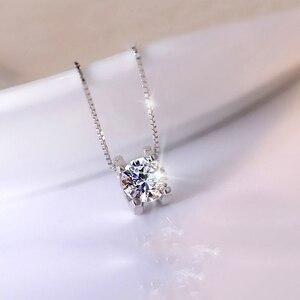 Image 3 - Женский кулон на помолвку BOEYCJR, элегантное ожерелье из серебра 925 пробы 0.5ct/1ct/2ct F, Подарок на годовщину