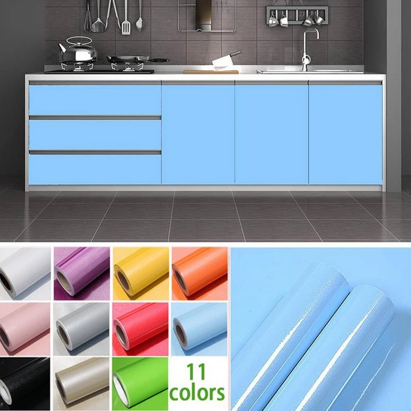 Wallpapers Youman Vinyl Stickers Self Adhesive In Rolls 3M/5M/10M Modern Multi-Color Kitchen Cabinet PVC For Kitchen Renovate