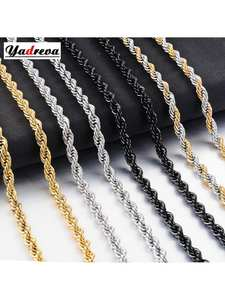 Hot Selling Hip-Hop Stainless Steel Rope Chain Fashion Men And Women Jewelry