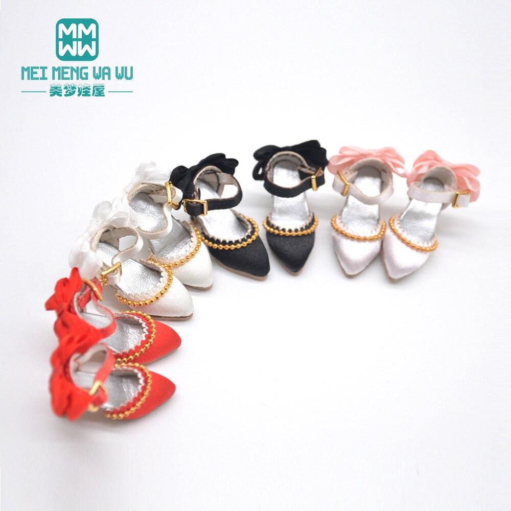 Кукольная обувь для blyth Azone OB23 OB24 1/6 28-30 см, модные атласные туфли на высоком каблуке розового, белого, черного, красного цветов