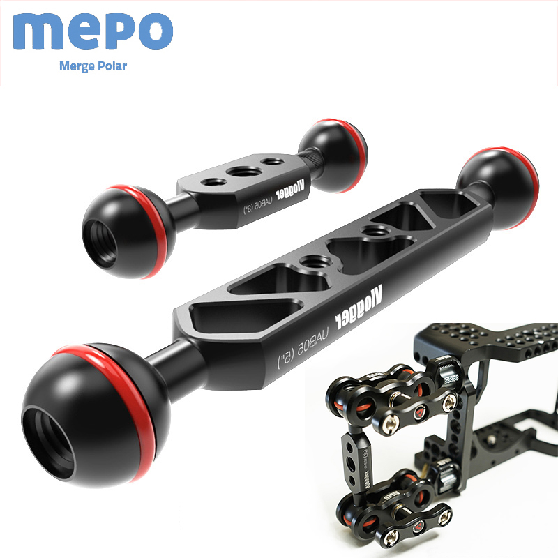 DSLR Camera Dual Ball Joint Arm Adjust Angle Monitor Bracket Light Grip Connector Sports Camera Photography Diving Accessories