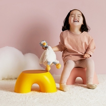 Simple Semi-ring Rainbow Small Bench Home Indoor Chair Children Stool Footboard Furniture Stool Toy Sofa Kids Bedroom Interior