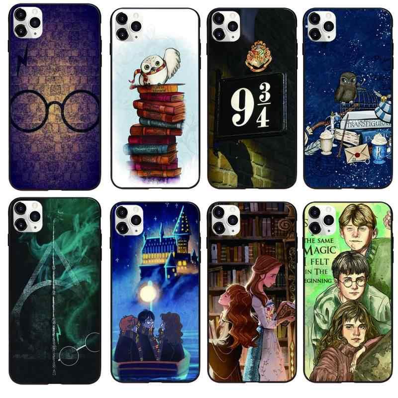 Couverture noire de la bande dessinée éternel Hogwart harry Potter, pour iphone XS 11 12 11/12Pro Max 5 5s SE 6 6s 7 8 Plus SE 2020