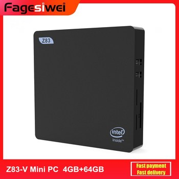 Z83-V Mini PC Intel Atom X5-Z8350 4GB DDR3 64GB 2.4GHz+5.8GHz WiFi 1000Mbps USB3.0 BT4.0 Windows 10 mini PC