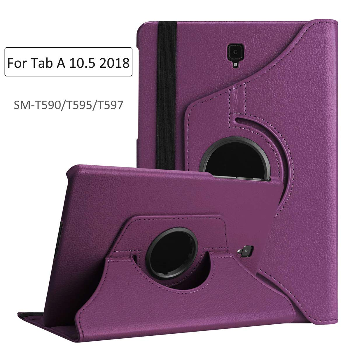 360 Degree Rotatable Leather Smart Case For Samsung Galaxy Tab A 10.5 Cover T590 T595 T597 SM-T590 2018 Awake Sleep Cover Funda