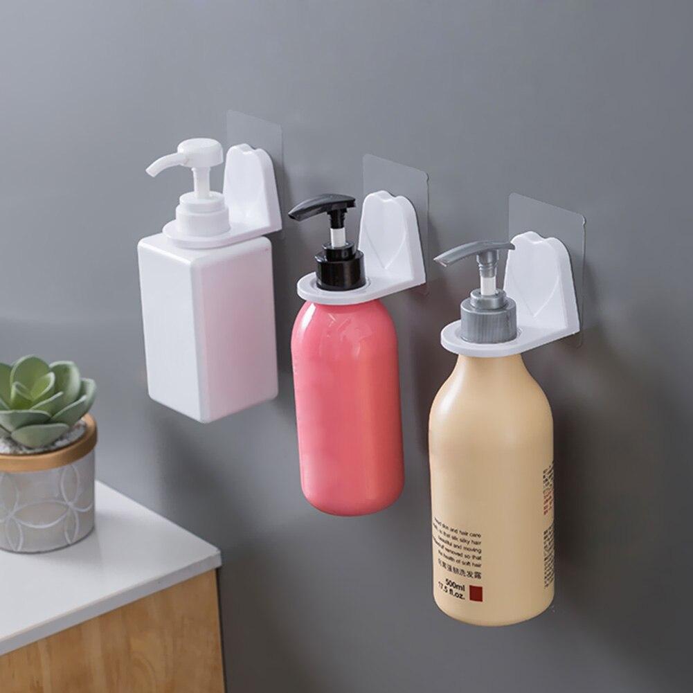 Hand Sanitizer Holder Wall Mounting Shower Gel Bottle Hook Racks Shampoo Hanging For Household Bathroom Ornaments