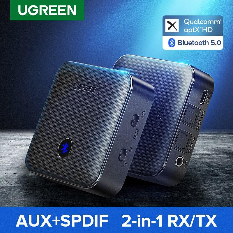 Ugreen bluetooth 5.0 receptor transmissor 4.2 aptx hd csr8675 para tv fone de ouvido óptico 3.5mm spdif bluetooth aux adaptador de áudio|Adaptador sem fio|   - AliExpress