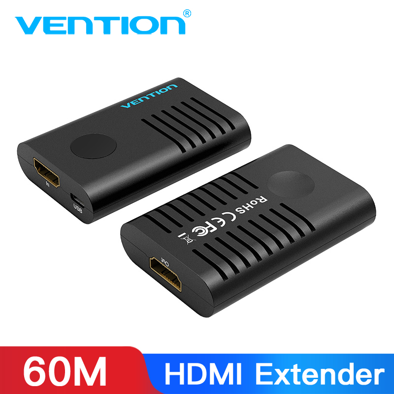 Vention HDMI Extender HDMI 2.0 Female To Female Repeater Up To 10m 60m Signal Booster Active 4K@60Hz HDMI To HDMI Connector