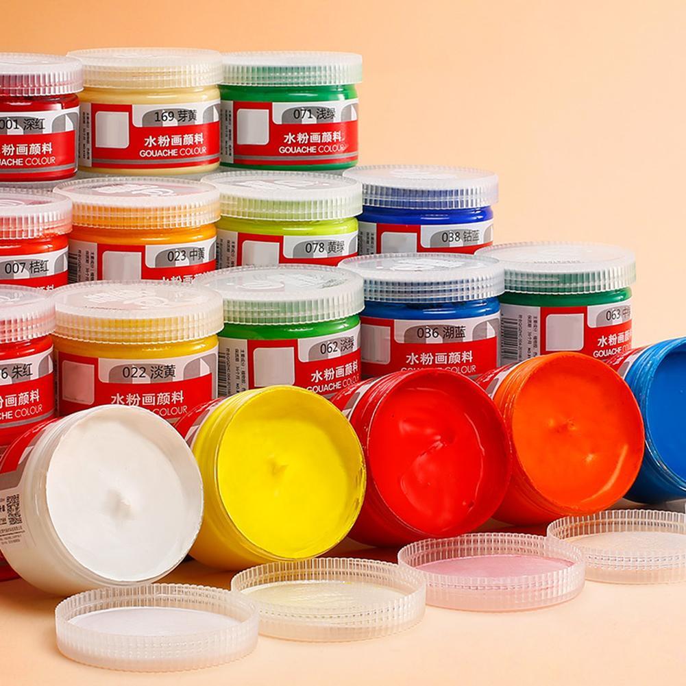 100ml Gouache Colors Box Paints Healthy Painting Draw Learner Practice Pigment