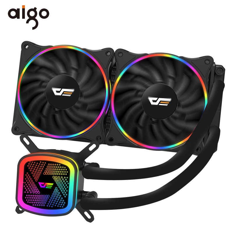 Aigo Pc Case Waterkoeling Computer Cpu Koeler Rgb Water Koeler Heatsink Geïntegreerde Cpu Cooling Radiator Lga 1151/2011/AM3 +/AM4