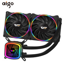 Aigo PC Case Air Pendingin Komputer CPU Cooler RGB Air Cooler Heatsink Terintegrasi CPU Pendingin Radiator LGA 1151/2011/AM3 +/AM4(China)