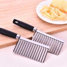 Нержавеющая сталь овощной фруктовый волнообразный резак картофель огурец морковь волны нож для резки кухонный инструмент для приготовления пищи