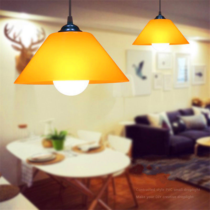 Modern Pendant Lights Kitchen Fixtures Plastic PVC Lampshade Dinning Room Pendant Lamp Home Lighting Decor Supermarket Luminaire
