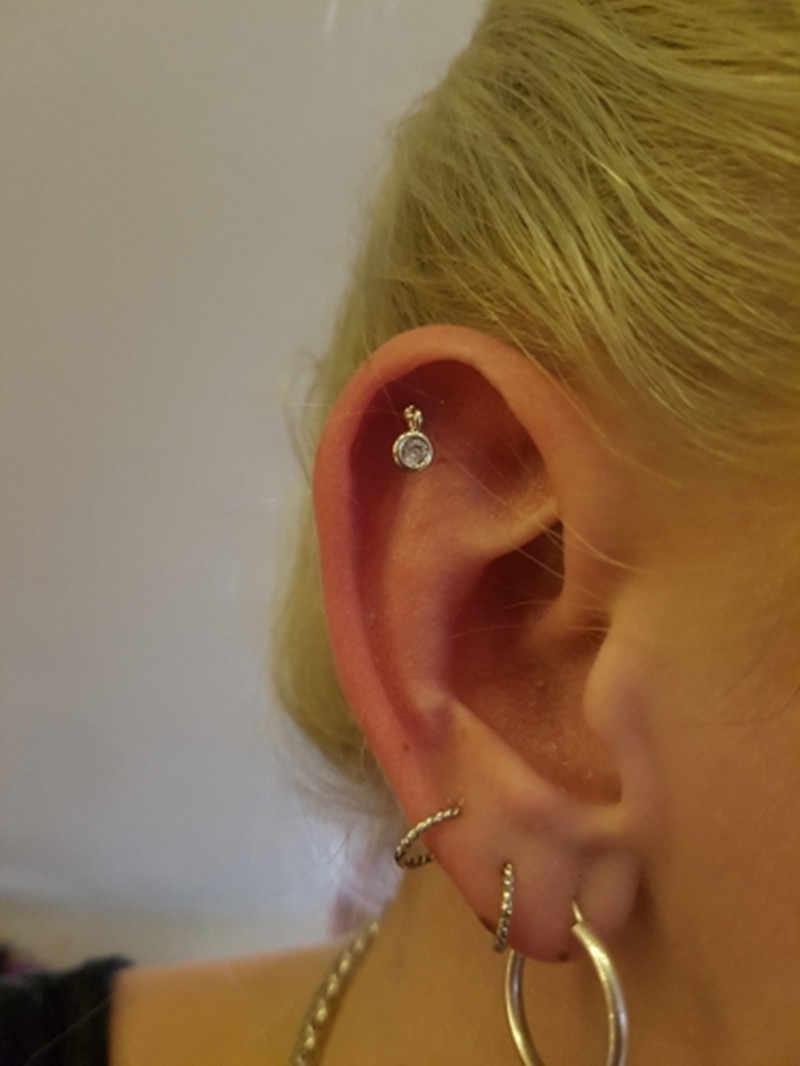 G23titanแฟชั่นผู้หญิงAccesoires Tragusต่างหูจี้ 16Gสแตนเลสสตีลเจาะกระดูกอ่อนต่างหูแหวนเครื่องประดับ