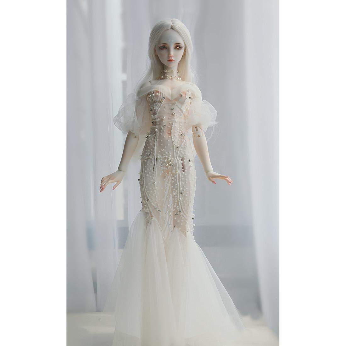 Wedding Dress Clothes Doll Accessories For 1/3 1/4 1/6 BJD Dolls - Transparent No Doll