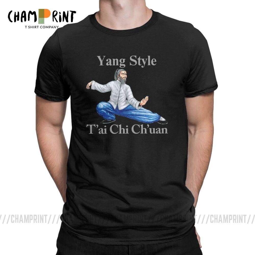 Забавный Янг Стиль Тай чи чуань футболка мужская с круглым вырезом из чистого хлопка футболка с коротким рукавом футболки с графическим принтом Одежда
