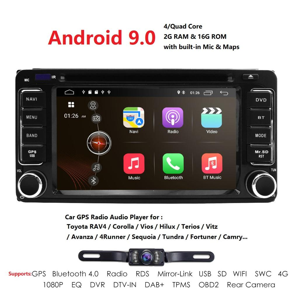 <font><b>2</b></font> <font><b>din</b></font> Car Radio Android 9.0 Multimedia Car DVD Player For Toyota Land cruise <font><b>100</b></font> <font><b>200</b></font> prado 120 150 RAV4 COROLLACamry yaris Hilux image