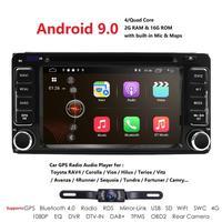 2 din Car Radio Android 9.0 Multimedia Car DVD Player For Toyota Land cruise 100 200 prado 120 150 RAV4 COROLLACamry yaris Hilux