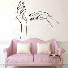 nail bar wall sticker studio window salon vinyl art mural JH158